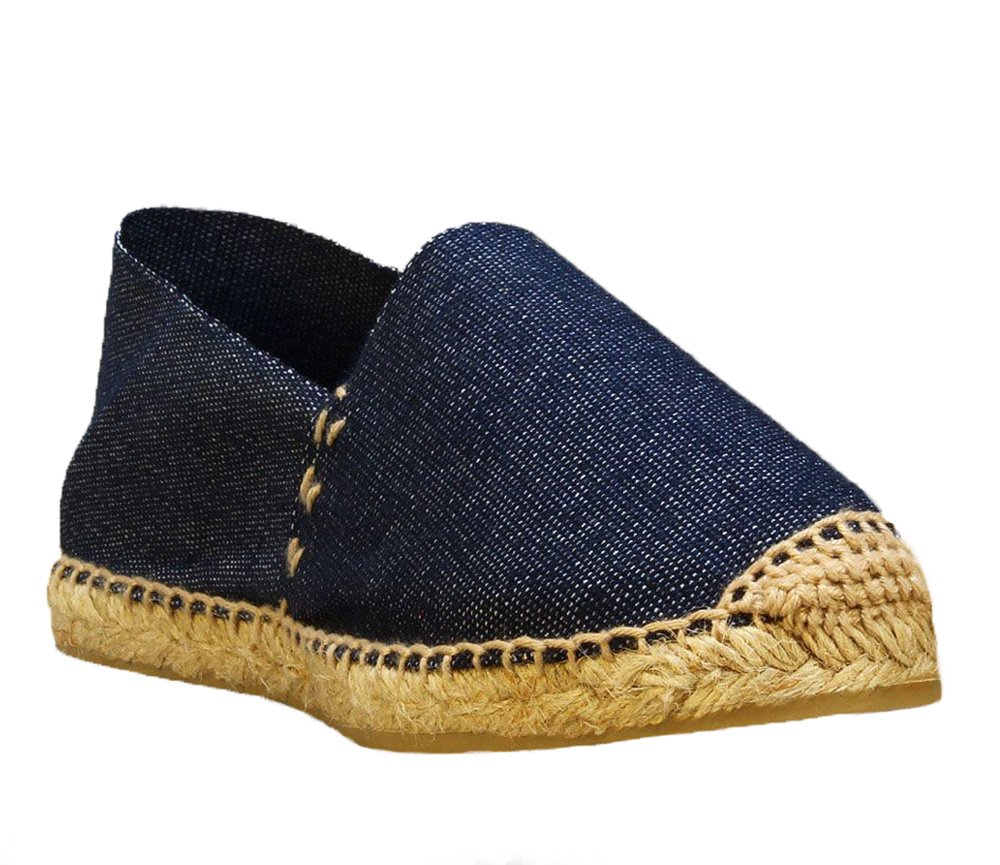 DIEGOS Women's Men's Espadrilles. Hand Made in Spain. (EU 39, Denim)
