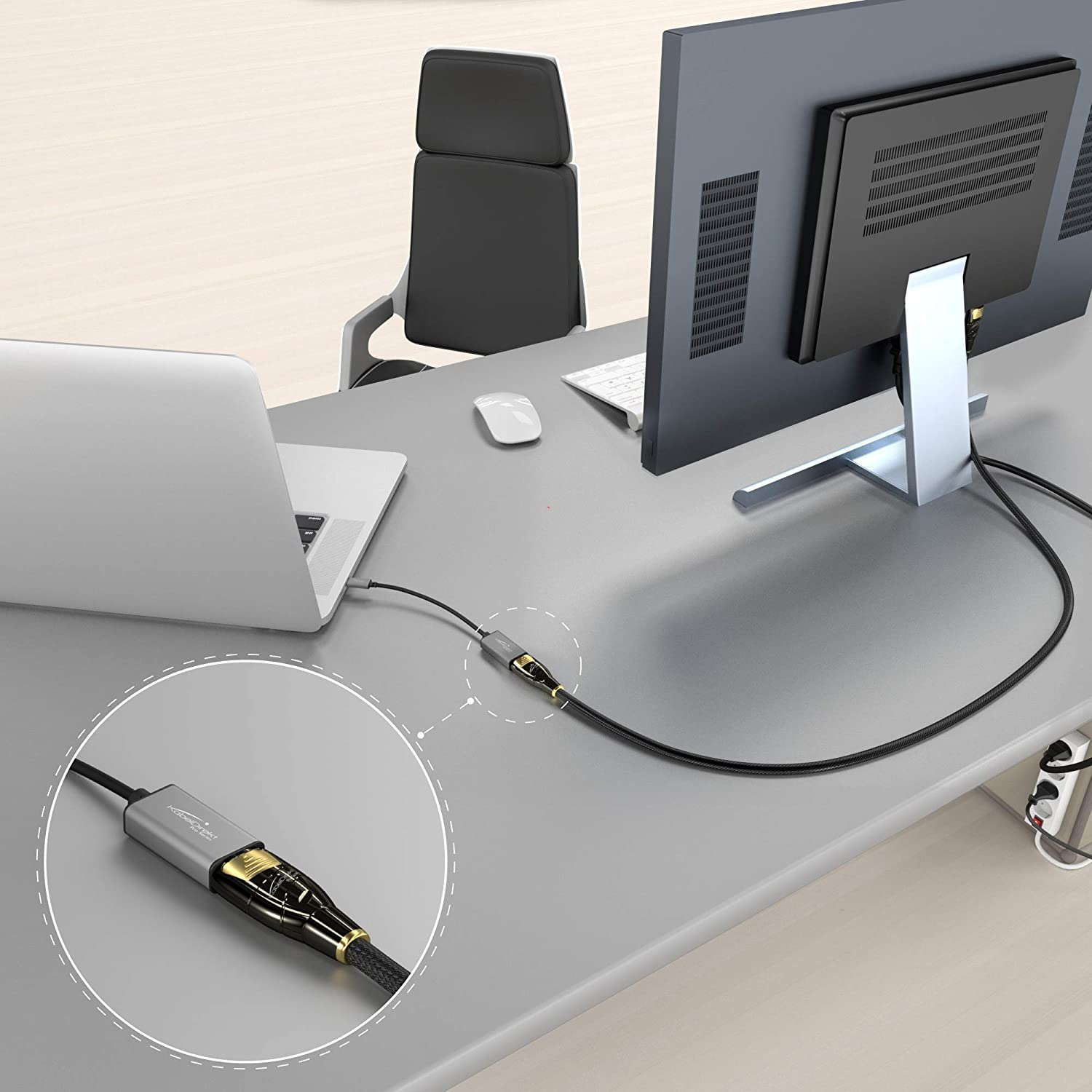 """6 inch - KabelDirekt - PRO Series 1091 USB C to DisplayPort DP Adapter up to 4K//60Hz, USB C 3.1 and Thunderbolt 3, Suitable for MacBook Pro 2016//2017, MacBook 12/"""", Chromebook Pixel, Other Devices"""