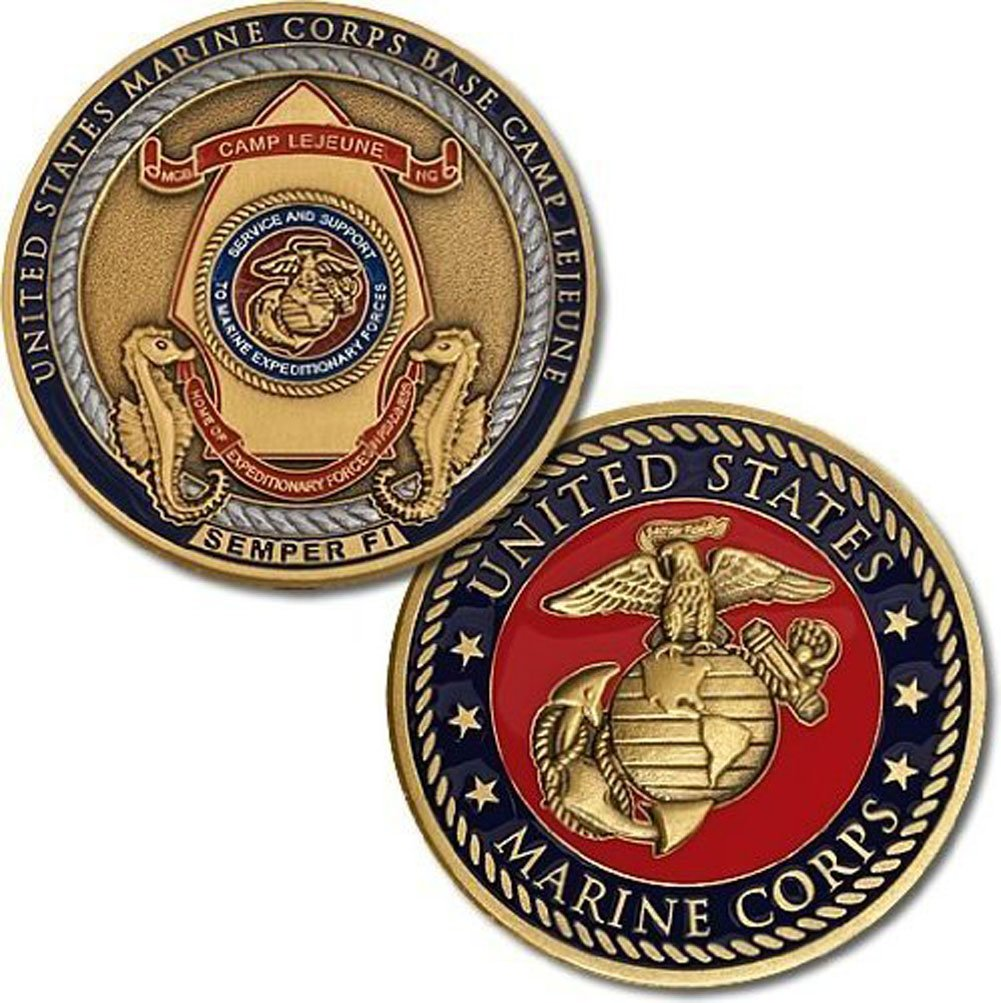 Marine Corps Base Camp Lejeune Semper Fi Challenge Coin Armed Forces Depot U.S