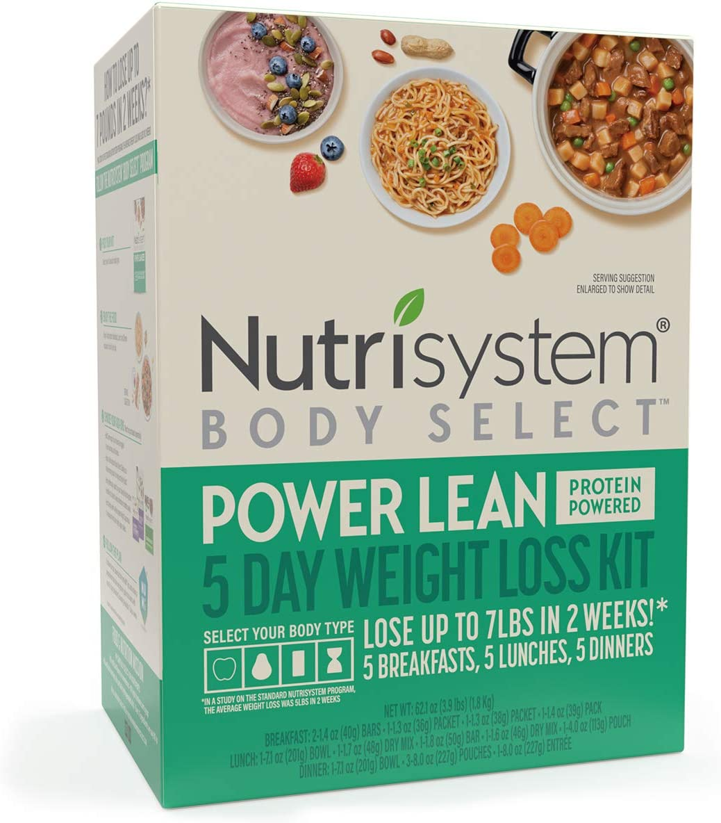 Nutrisystem® Body Select™ Power Lean 5-Day Weight Loss Kit: Delicious Meals with Protein Powered Nutrition