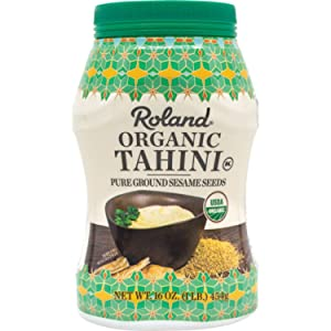 Roland Foods Organic Tahini From Pure Ground Sesame Seed, Specialty Imported Food, 1-Pound Jar