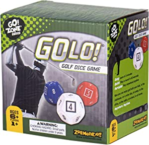 GOLO Golf Dice Game   For Golfers, Families, and Kids   Portable Fun Game for Home, Travel, Camping, Vacation, Beach   Award Winner