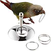 TBWHL Bird Toys Parrot Stacking Rings Toys Stainless Steel Tabletop Training Chew Toys for Small and Medium Parrots and…