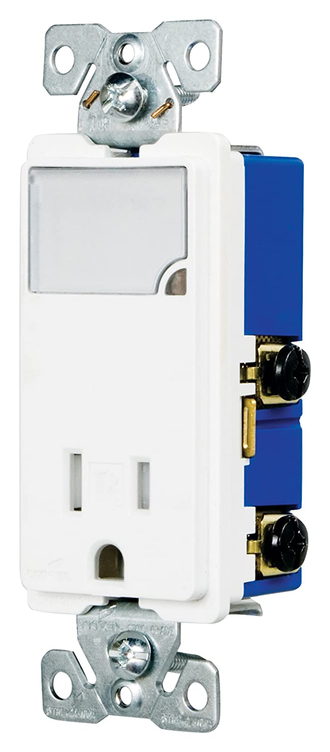 71dFKI2vCoL._SL1500_ eaton tr7735w 3 wire receptacle combo nightlight with tamper cooper 7738 wiring diagram at couponss.co