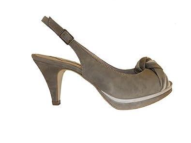 Donna Piu Damen Sandalette SUSI Wildleder 3353 braun beige Größe 37 ... ce8a49153b