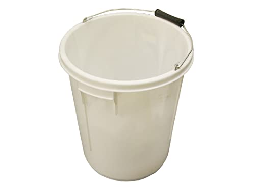 Faithfull 5 Gallon 25L Bucket - White