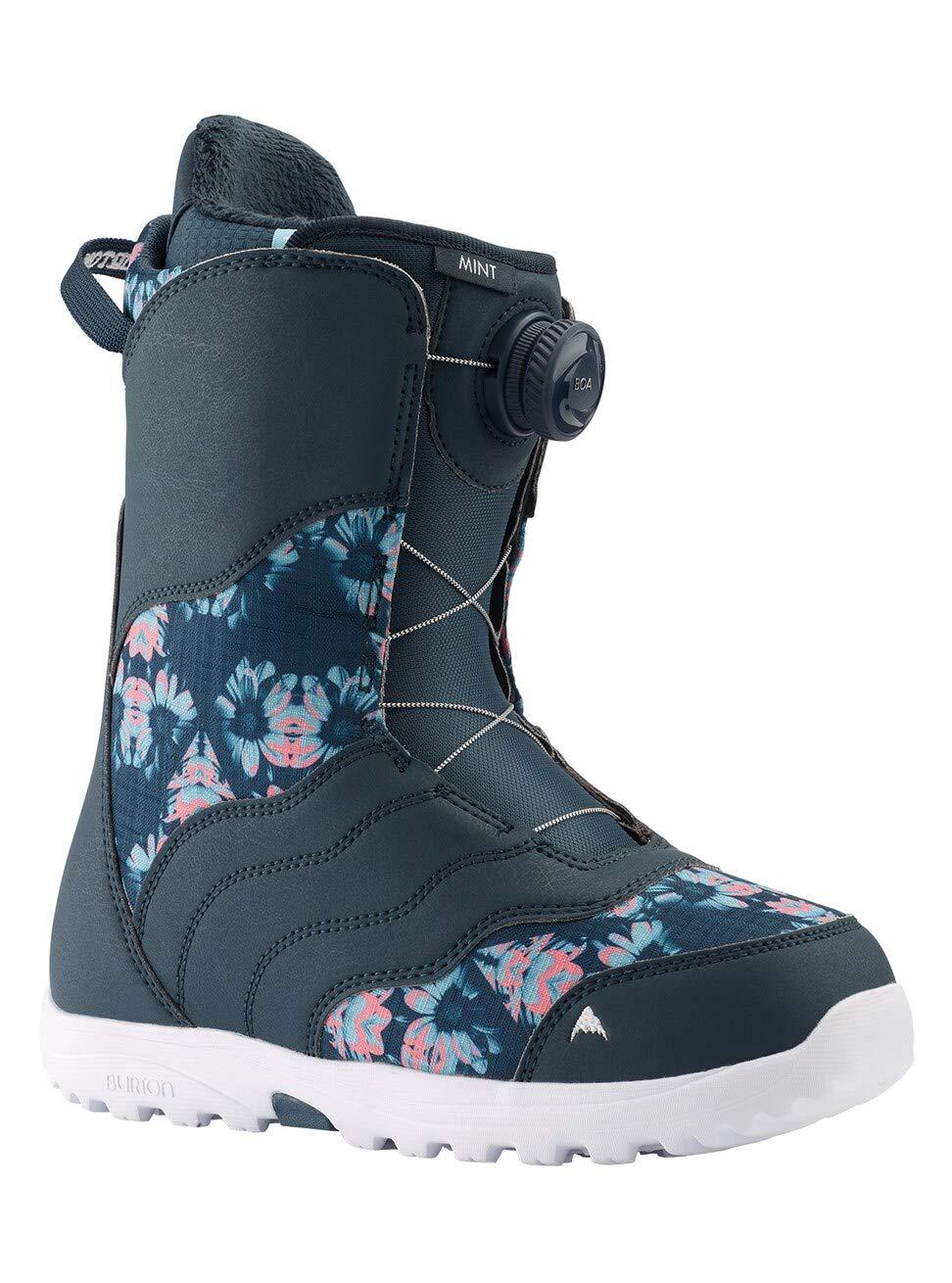 Burton Women's Mint Boa Snowboard Boots, Midnite Blue/Multi, 9.0