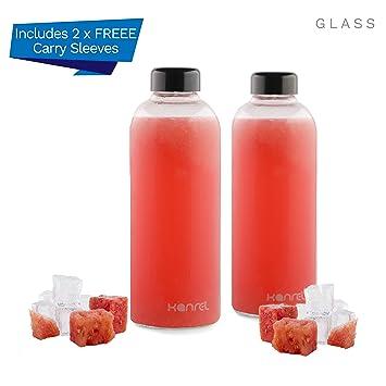 Botellas de agua de cristal Kanrel, de 32 onzas, la mejor botella ...