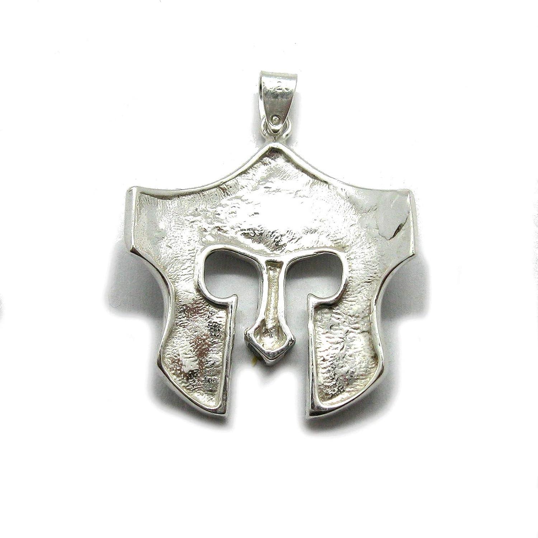 Fait main pendentif en argent massif 925 Casque spartiate PE001309