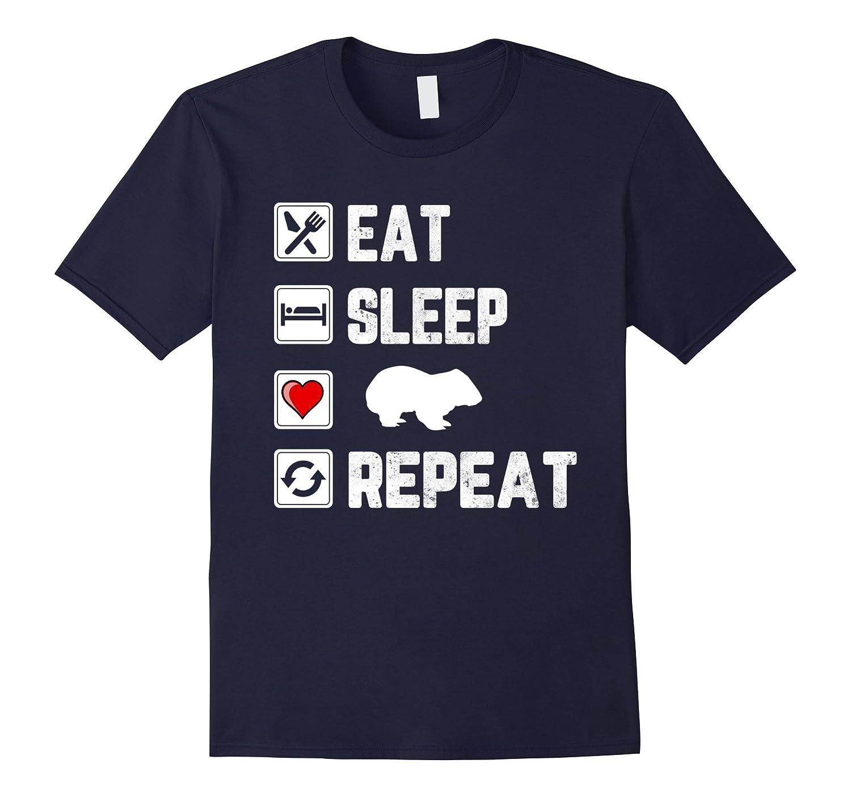 Eat Sleep Love Wombat Repeat For Who Love Wombat T Shirt-FL