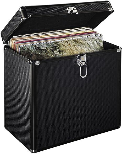 Estuche para discos musicales de vinilo de larga duración (LP) de 127 x 30,48 cm, fabricado en aluminio - Almacenamiento de discos resistente, con cerradura.: Amazon.es: Instrumentos musicales