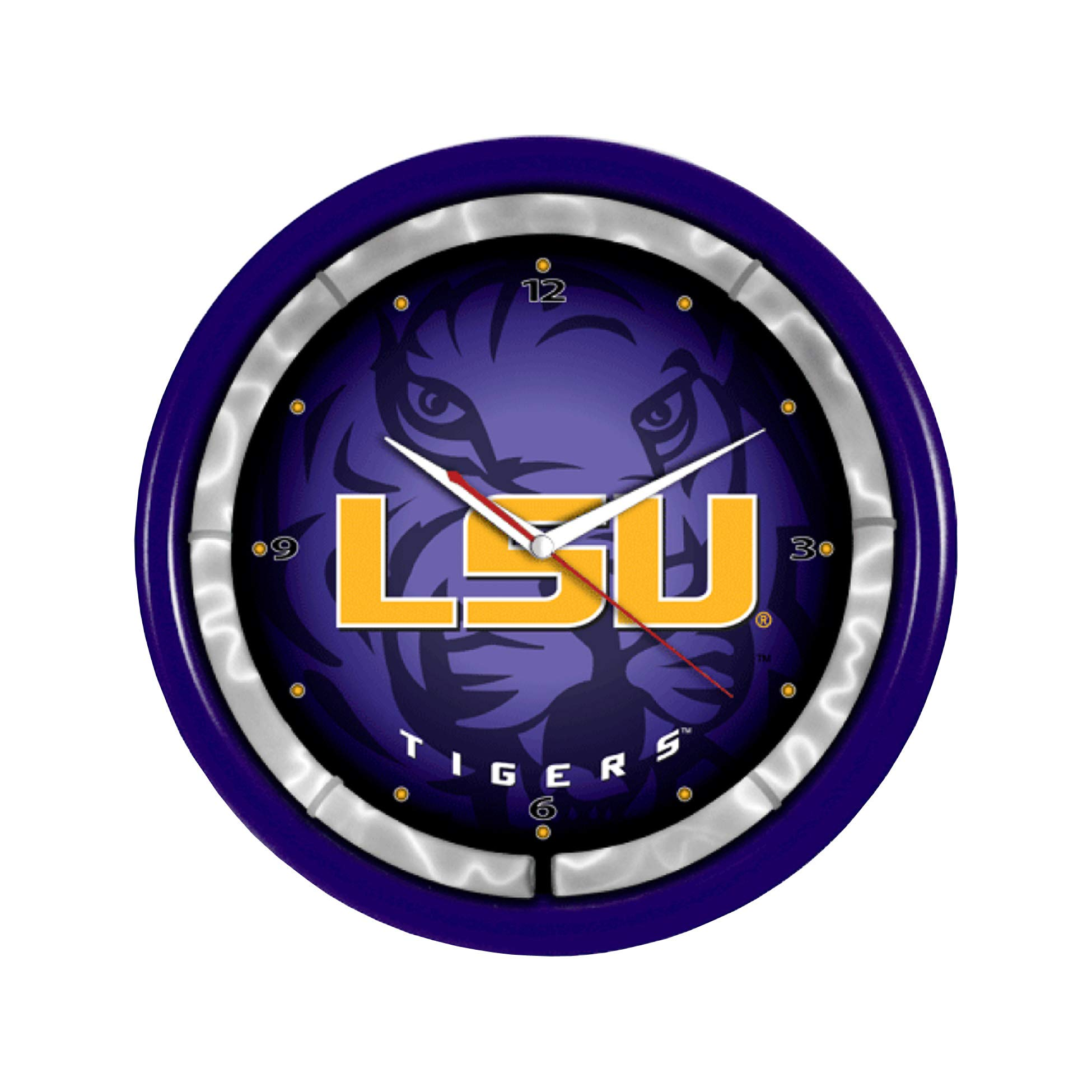 Authentic Street Signs NCAA College Team Plasma Clock (LSU Tigers) by Authentic Street Signs
