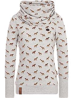 Naketano Damen Sweat Shirt grau Anker Muster Jane Forensik 1042