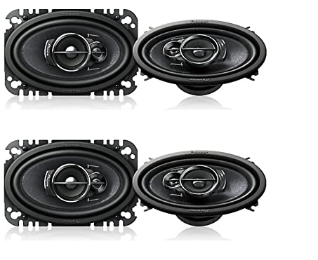 image of PIONEER TS-A4676R 4″ X 6″ 3-WAY SPEAKER - one of the best 4x6 speakers for car