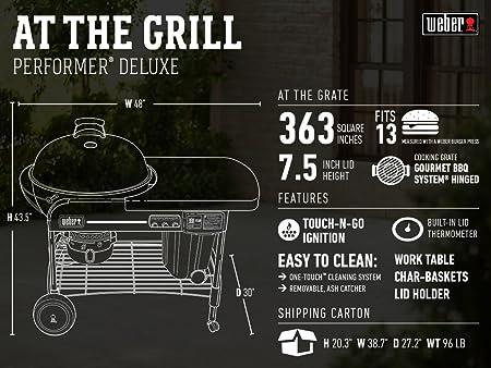 Weber Holzkohlegrill Performer Deluxe Gourmet : Weber grill online shop günstig bei weststyle