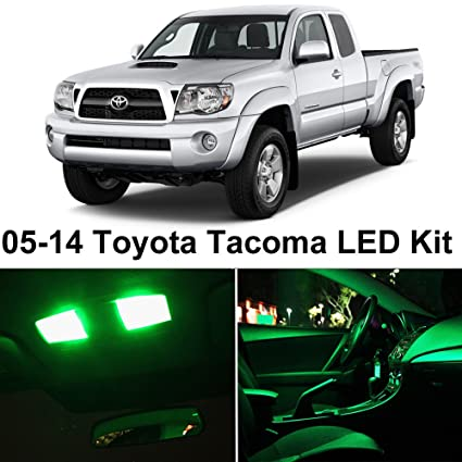 LEDpartsNow 2005 2015 Toyota TACOMA GREEN Premium LED Interior Lights  Package Kit (7 Pieces