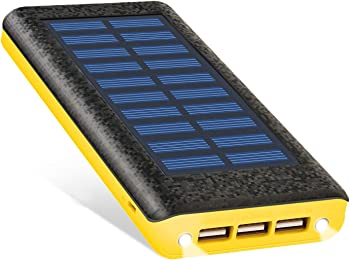 Ruipu 24000mAh Solar Charger Power Bank with 3 USB Ports