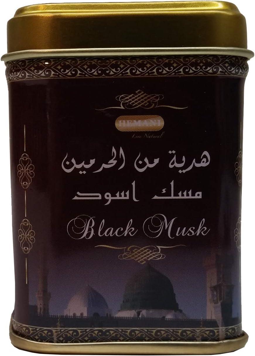 Casa Moro W1003 Piedra aromática oriental Black Musk de Hemani | Sin alcohol | Perfume de resina aceite ambientador ambientador | Producto natural de almizcle negro