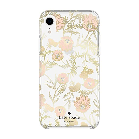 differently 2844d 087b0 Kate Spade New York Phone Case for Apple iPhone XR Protective Phone Cases  with Slim Design Drop Protection and Floral Print, Blossom Pink/Gold with  ...