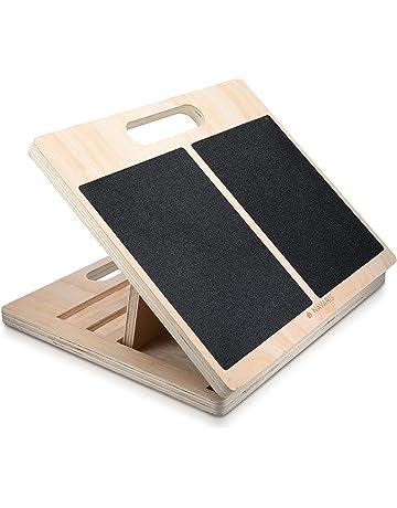 Navaris Tabla de estiramientos - tablero para ejercicios de rehabilitación - tabla antideslizante de madera para