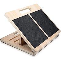 Navaris verstelbaar anti-slip stretch board - Houten incline board - 3 standen - Voor het rekken van kuiten, voeten…