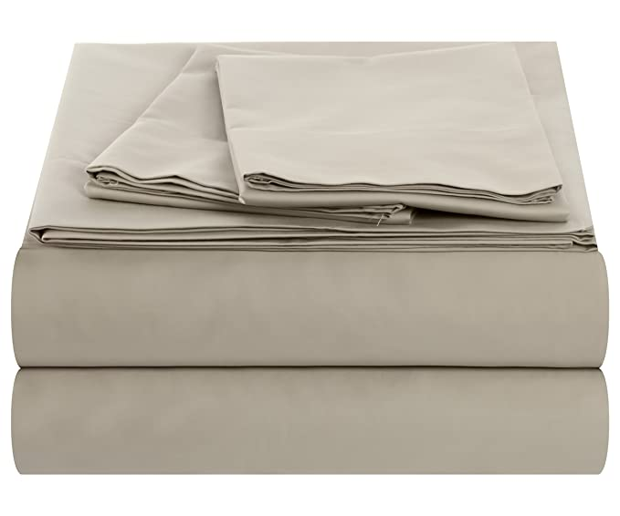 Amazon.com: Outlast Temperature Regulating Hypoallergenic Sheet Set – 300 Thread Count, 40%, 60% Cotton Sateen Weave, Linen, King: Home & Kitchen
