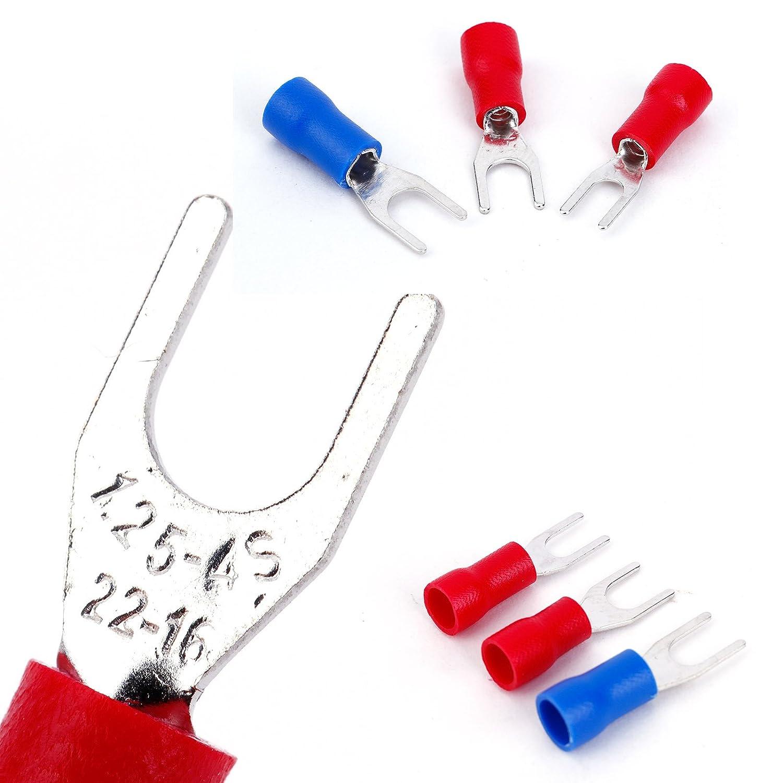 1200pcs Terminales Aislados Conectores para Cable El/éctrico con Caja en Colores