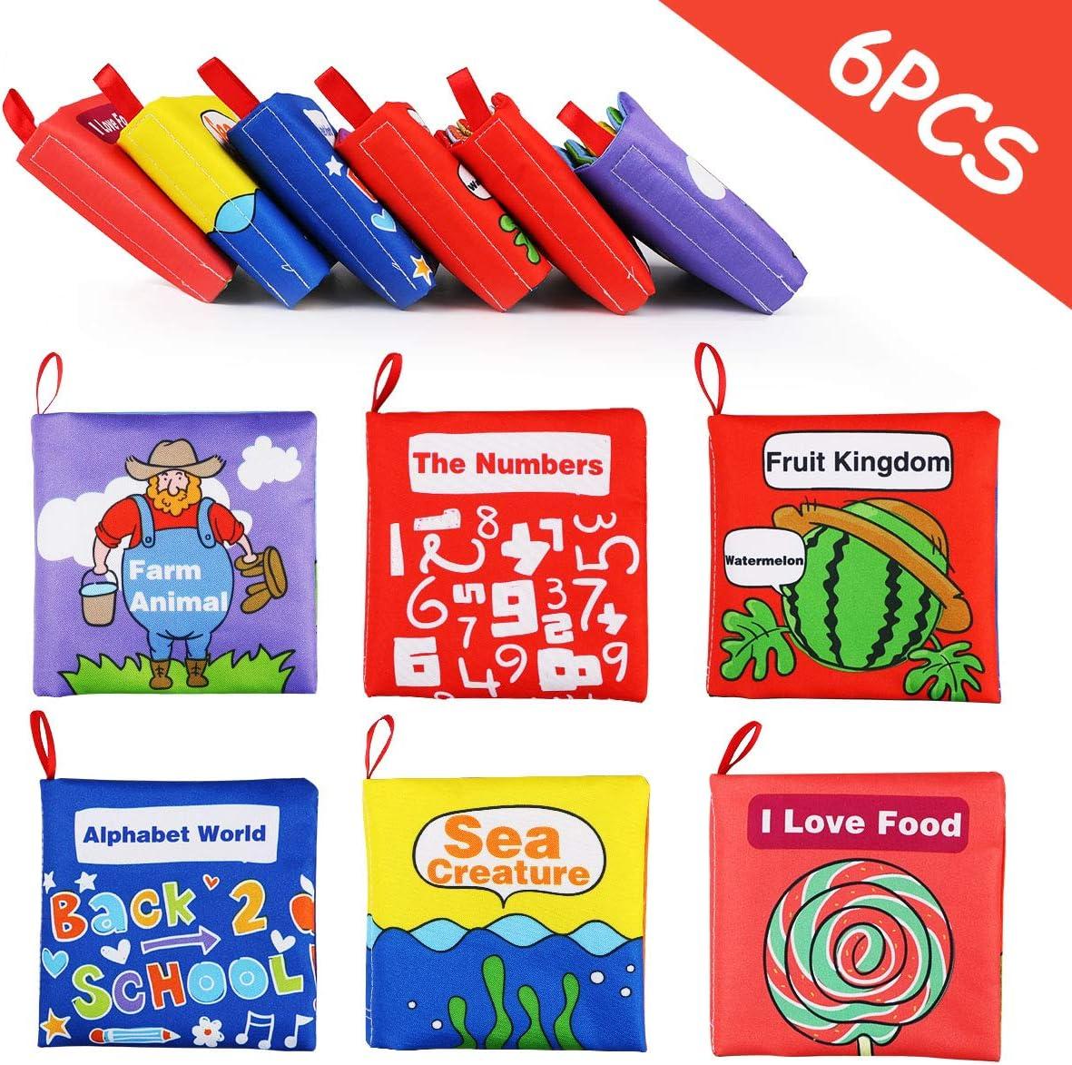 regalo para navidad Libros de Tela para Beb/é Libro Bebe Activity Tejido Blando Libros Blandos Bebes libro para un desarrollo interactivo