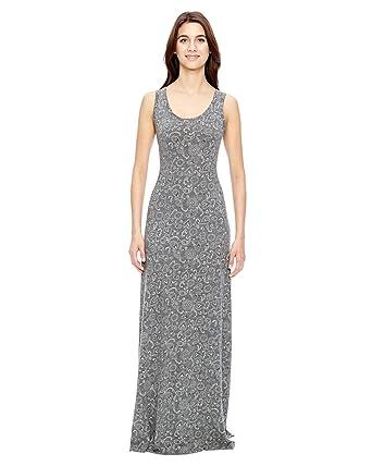 429f869936 Alternative 01968E1 - Ladies  Racerback Maxi Dress - ECO GREY BANDANA - M