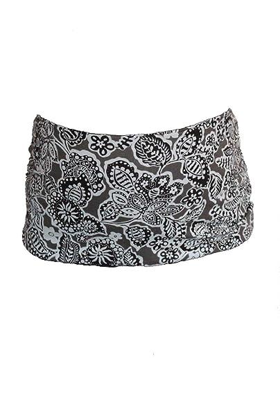Babb – Banda para embarazadas Lactancia estampado diseños arabescos – Mujer – negro y topo –