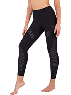 3ac5376df54c5 90 Degree By Reflex High Waist Iridescent Silicon Ankle Length Workout  Leggings