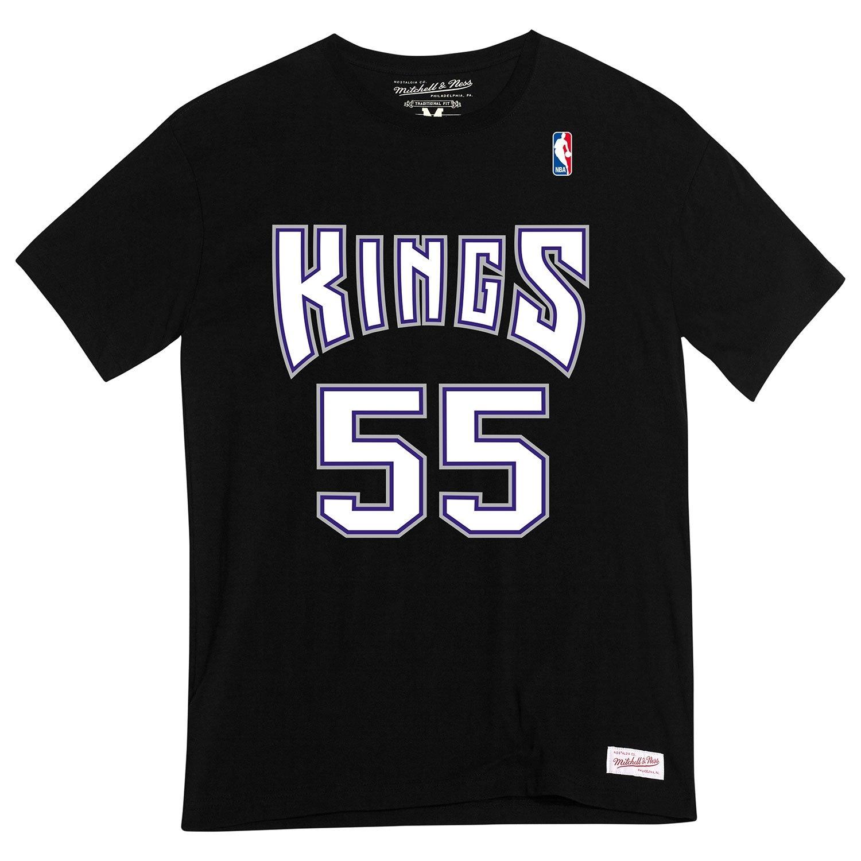 Mitchell & Ness Jason Williams #55 Sacramento Kings Name & Number NBA Tee Schwarz