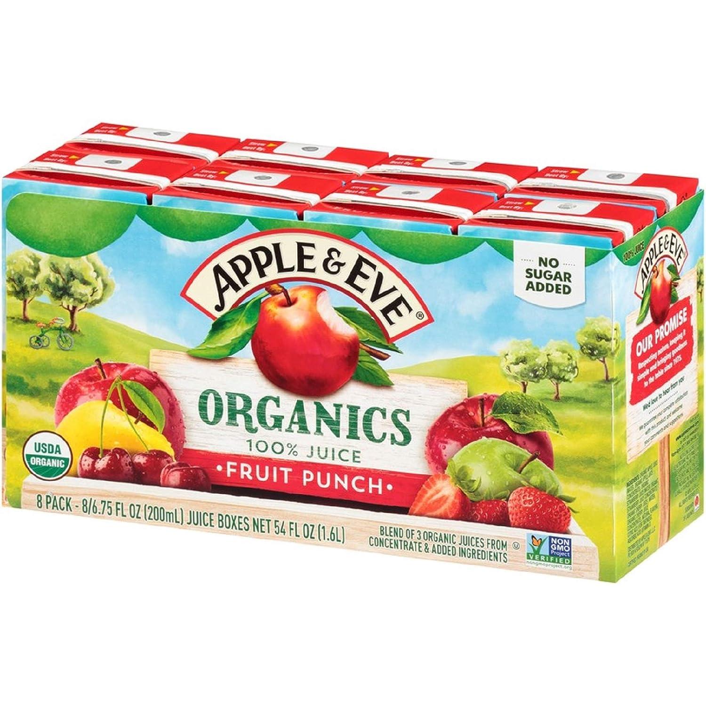Apple & Eve Organics, Fruit Punch, 6.75 Fluid-oz, 8 Count, Pack of 5
