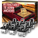Tigeracing Tie Down Anchors Retractable Truck Bed Side Wall D Ring Compatible with 2007-2020 Silverado & Sierra 1500…