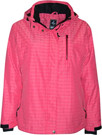 PULSE Women's Plus Size Extended Insulated Bevel Snow Ski Jacket