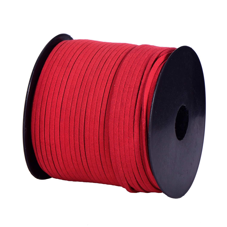 DonDon Veloursband 3 mm DIY 30 Meter Velours Rolle Pink
