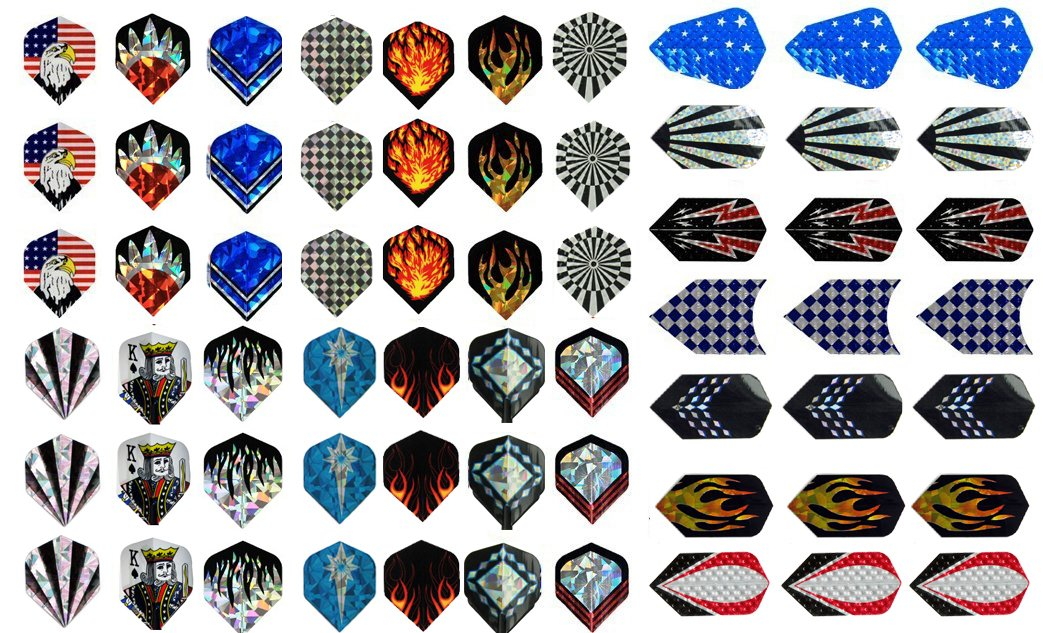Champion Sport Co New 21 Sets (63 Pieces) of Darts 2d and Aluminium Flights Assorted Wholesale