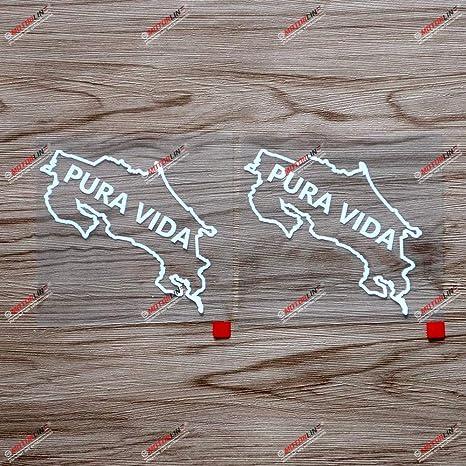 Costa Rica Flag Map Vinyl Sticker Decal Car Window Wall Door