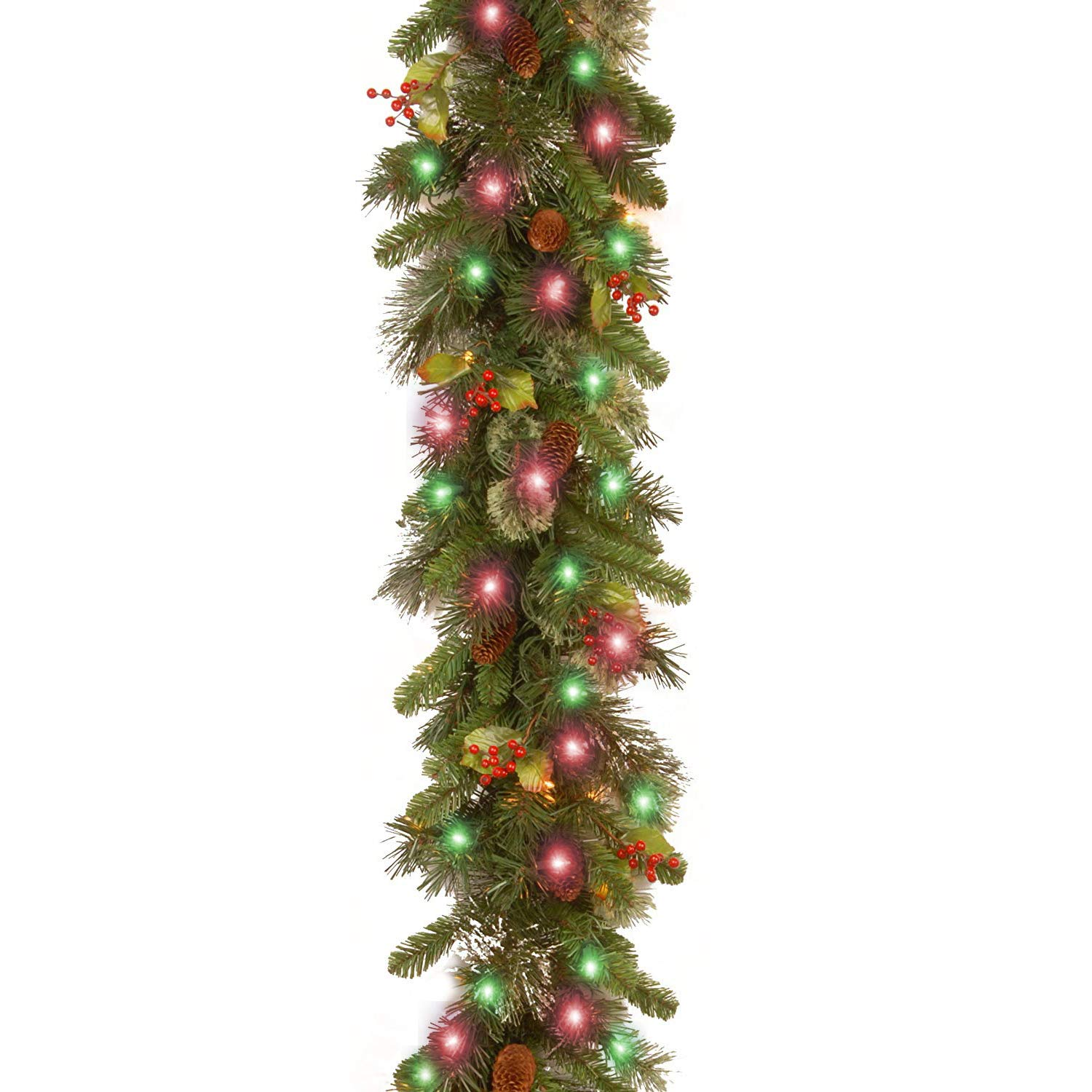 Amazon COWEAL Christmas Garland with Lights Battery Operated