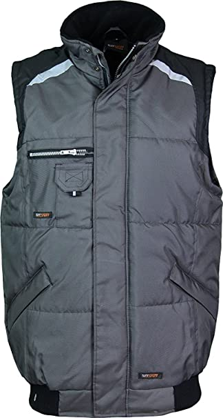 e7f41b34f0 Mens Work Body Warmer Tuff Stuff Bodywarmers Hard Wearing Quilted Padded  Waterproof Workwear  Amazon.co.uk  Clothing