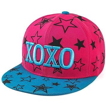 OSISDFWA Hip Hop Street Dance Hat Traveling Hat Sun Visor Letter Xoxo Men  And Ladies Hip Hop Street Dance 728b2f1d5116