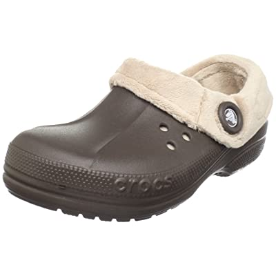 crocs Unisex Blitzen Polar Fleece Clog, Espresso/Mushroom, Men's 4 M/Women's 6 M | Mules & Clogs