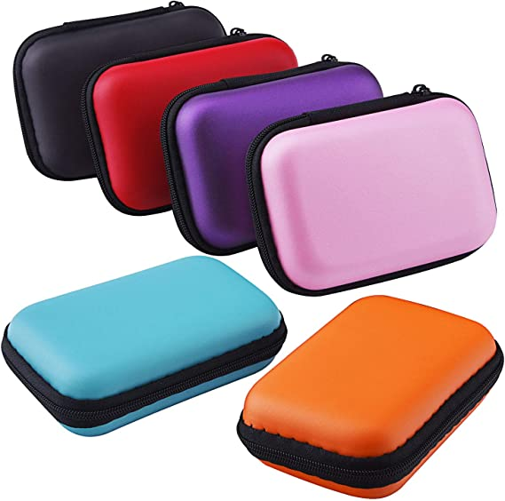 Sunmns Headphone Case Earphone SD TF Card USB Flash Disk Storage Cases Bag, 6 Pieces