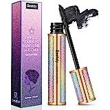 4D Silk Fiber Lash Mascara,Natural Waterproof Smudge-proof Mascara,Natural Thickening Lengthening Mascara No Clumping, No Smu