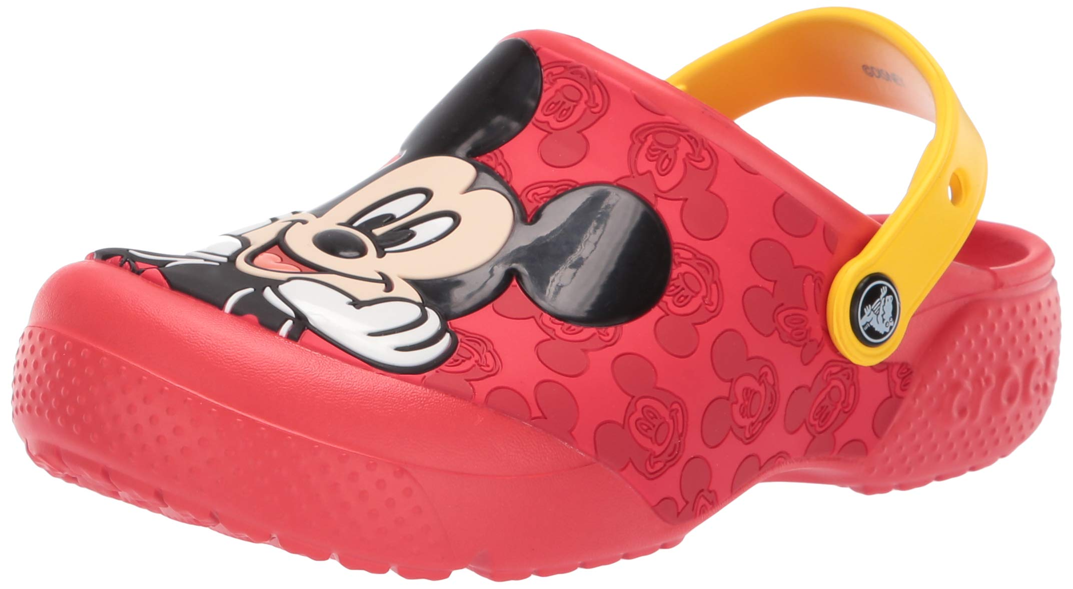 Crocs Unisex Fun Lab Mickey Mouse Clog, Flame, 11 M US Little Kid by Crocs