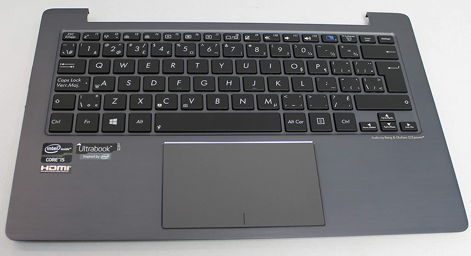 2MM ACS COMPATIBLE with ASUS PALMREST TOP Cover with Keyboard ASM UK Taichi 21 Replacement