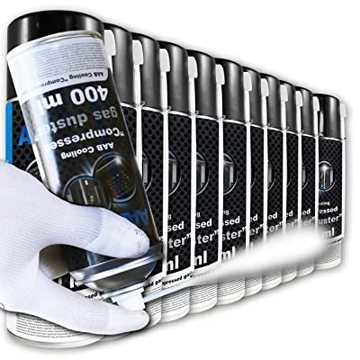 AAB Cooling Spray rafraîchissant 11 x 400 ml | Spray d'air comprimé | Icespray pour un congélation rapide | Refroidissement facile des pièces mécaniques et électroniques | Spray glacière | -50*C