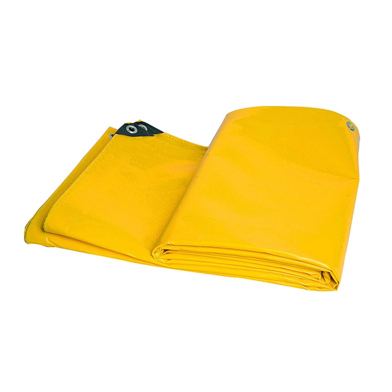DONGYUER Outdoor Thicken Tent Waterproof Tarpaulin PVC Messer kratzt Gelb Rainproof Tuch Tarpaulin Waterproof Sunscreen Shed Tuch Thicken Canvas,5  6m