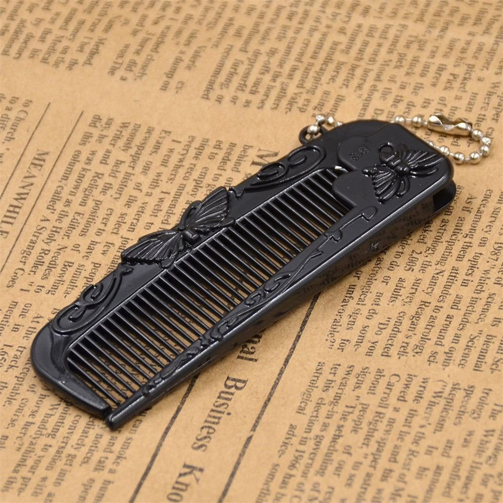 Buy Ast Works Hair Styling Plastic Black Portable Folding Travel Doctor Dapper Mud Gold 100 Gr Pocket Comb Online At Low Prices In India