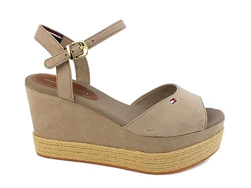 Tommy Hilfiger Mujer E1285rin 2D Sandalias con Correa Marrón Size: 35: Amazon.es: Zapatos y complementos